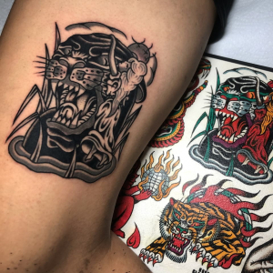 Rock Of Ages Panther Tattoo