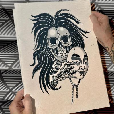 Tattoo Flash Cloak Dagger London 03