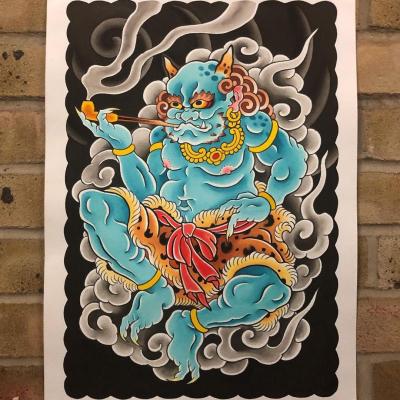 Tattoo Flash Cloak Dagger London 04