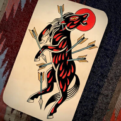 Tattoo Flash Cloak Dagger London 16