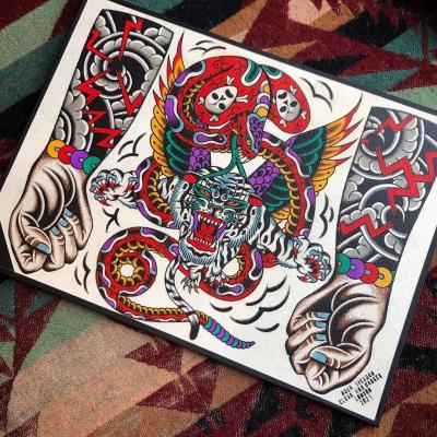 Tattoo Flash Cloak Dagger London 24