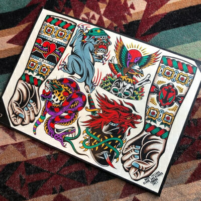 Tattoo Flash Cloak Dagger London 28