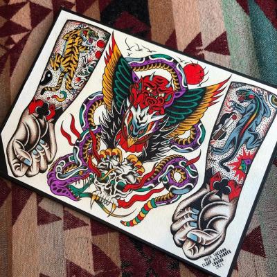 Tattoo Flash Cloak Dagger London 33