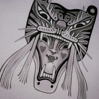 Tattoo Flash Cloak Dagger London 37