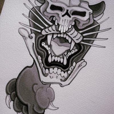 Tattoo Flash Cloak Dagger London 41