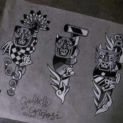 Tattoo Flash Cloak Dagger London 47