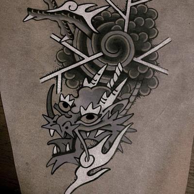 Tattoo Flash Cloak Dagger London 48