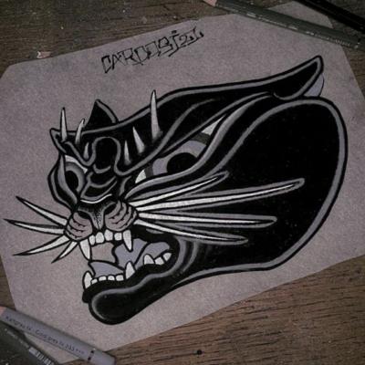 Tattoo Flash Cloak Dagger London 52