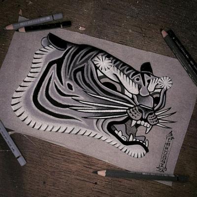 Tattoo Flash Cloak Dagger London 53