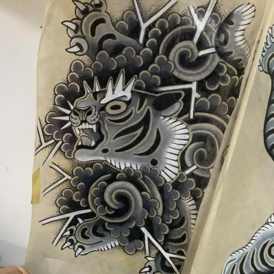 Tattoo Flash Cloak Dagger London 56