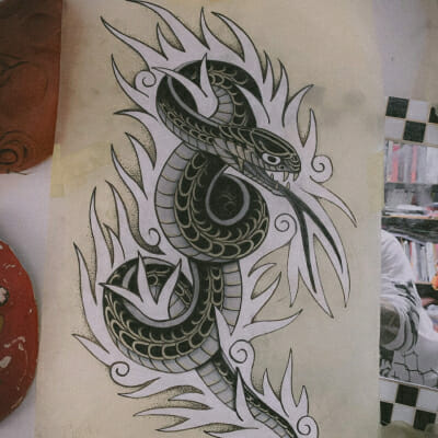 Tattoo Flash Cloak Dagger London 57