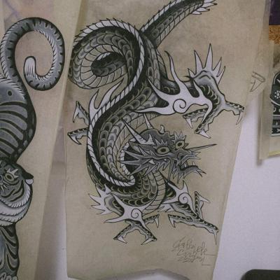 Tattoo Flash Cloak Dagger London 58