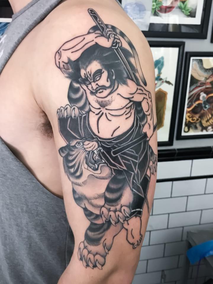 Tiger Fight Tattoo