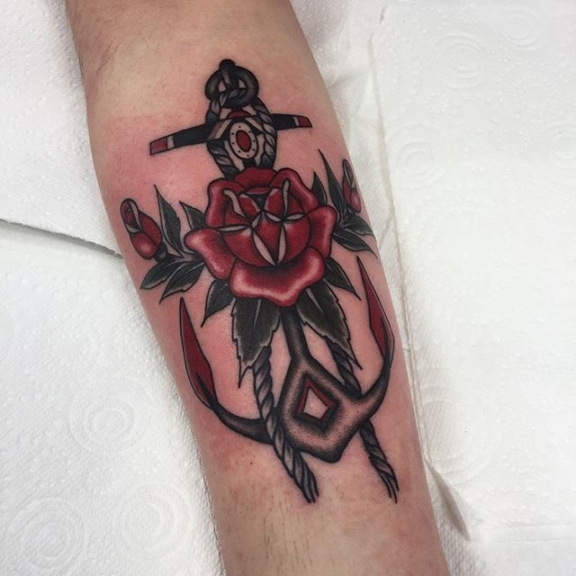 traditional anchors tattoo 02