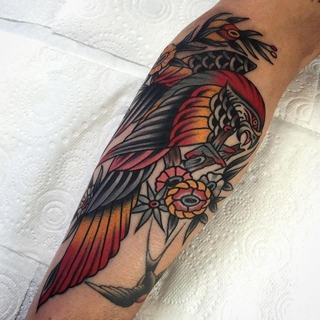 traditional bird tattoo 05