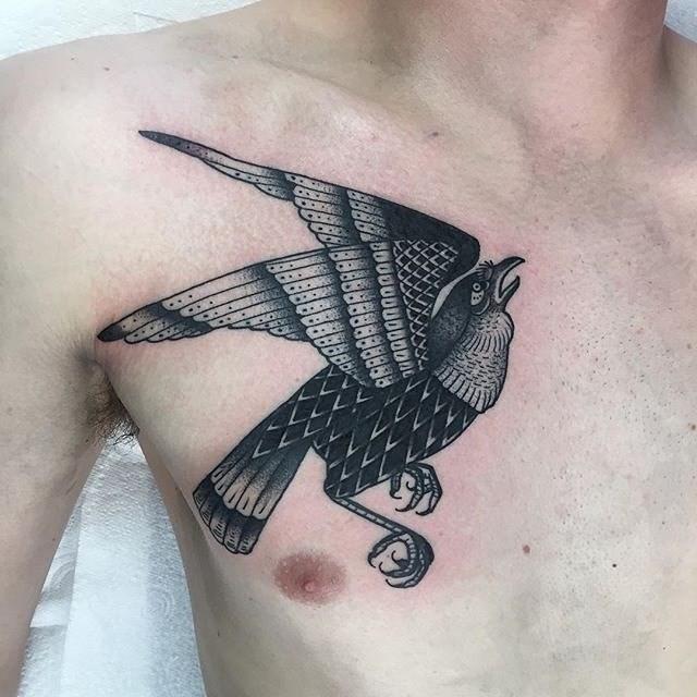 traditional bird tattoo 07