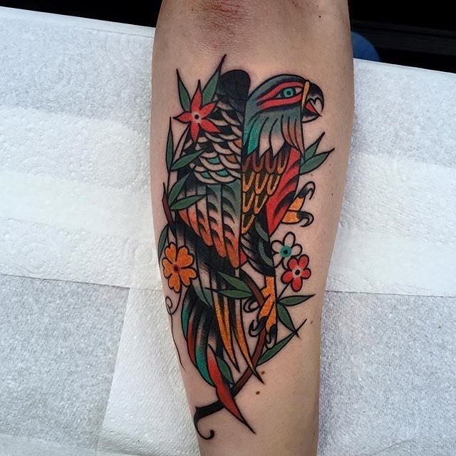 traditional bird tattoo 14