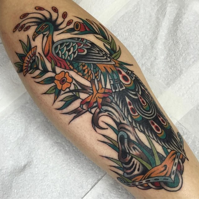 traditional bird tattoo 34