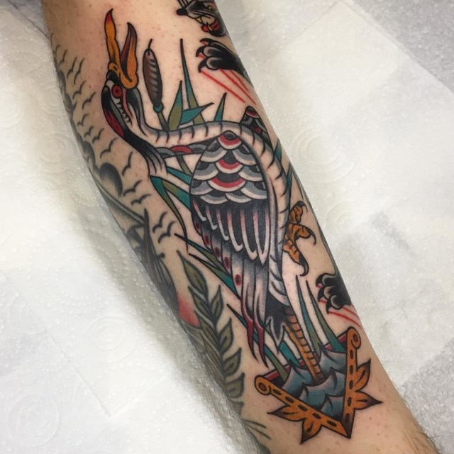 traditional bird tattoo 43
