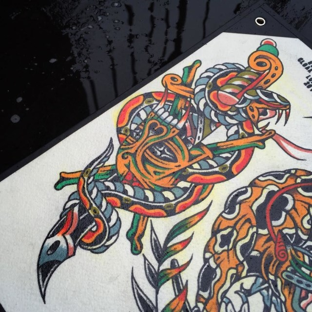 traditional dagger tattoo 27