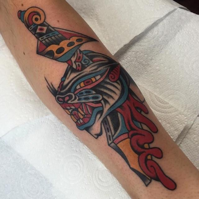 traditional dagger tattoo 31