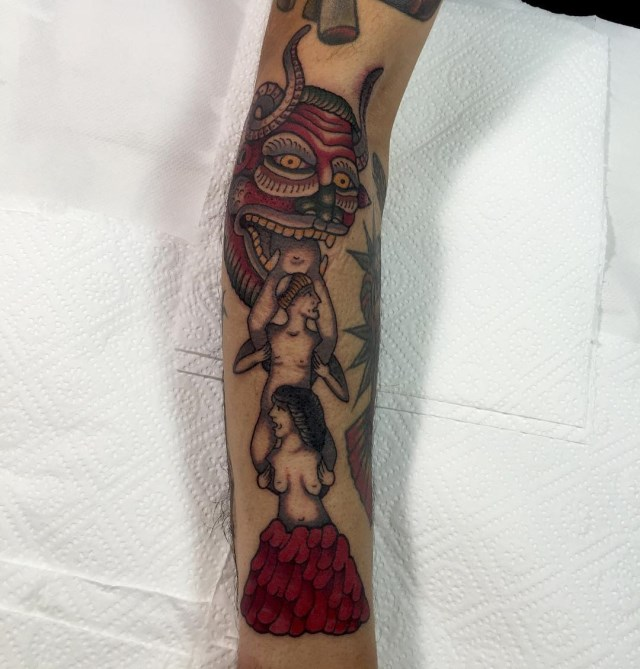 traditional death devil demon tattoo 20