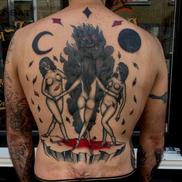 traditional demon tattoo 02