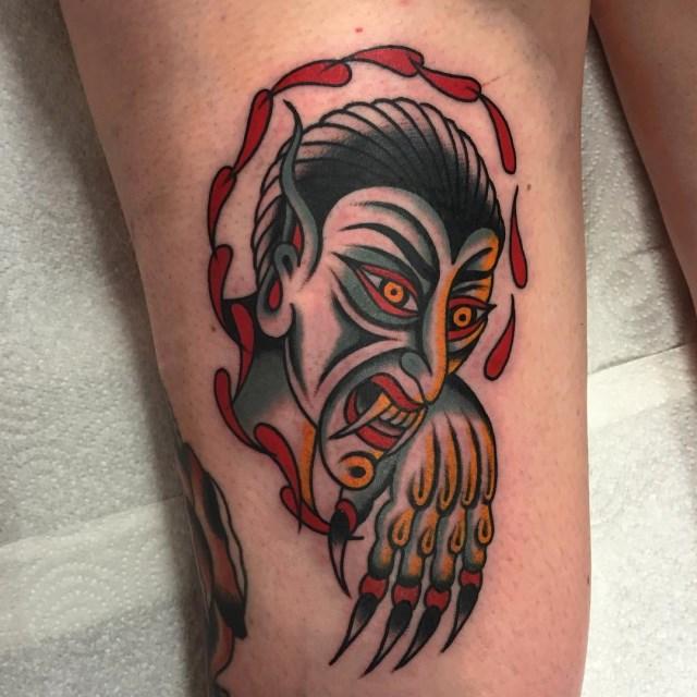 traditional demon tattoo 03