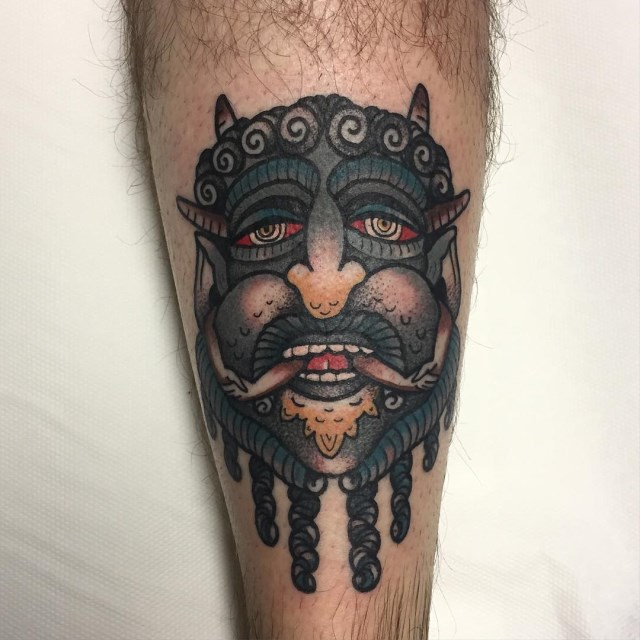 traditional demon tattoo 05