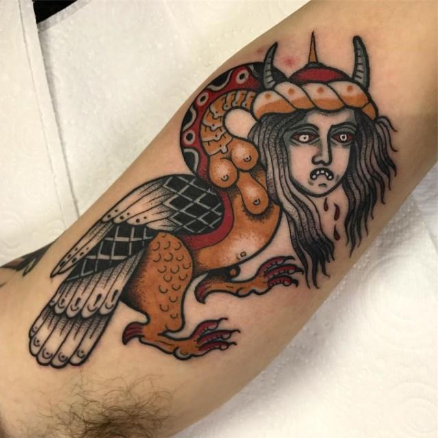 traditional demon tattoo 07