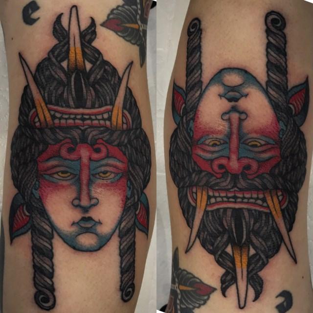 traditional demon tattoo 10