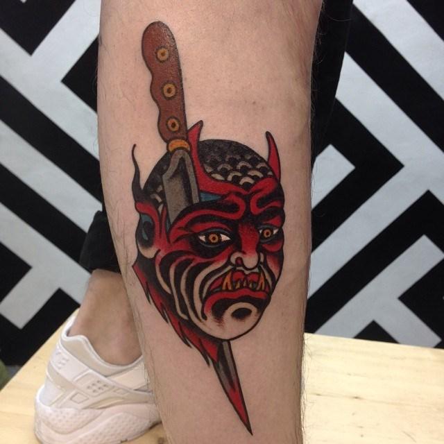 traditional devil tattoo 13