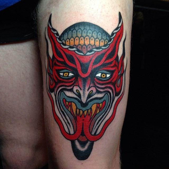 traditional devil tattoo 20