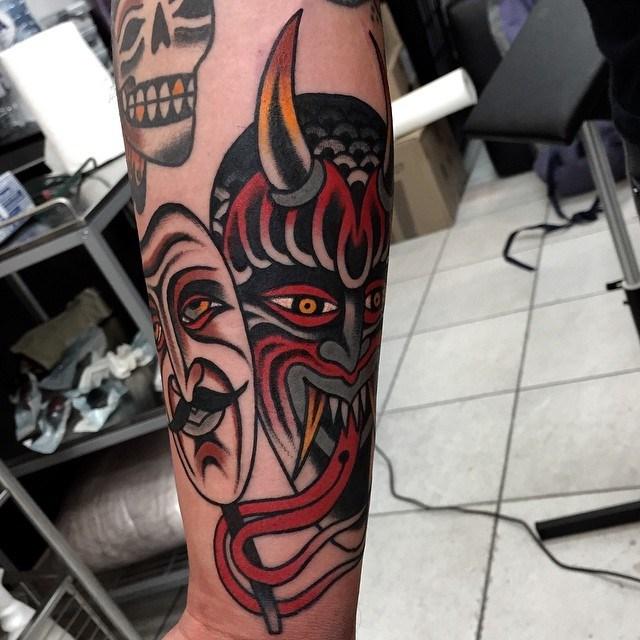 traditional devil tattoo 25