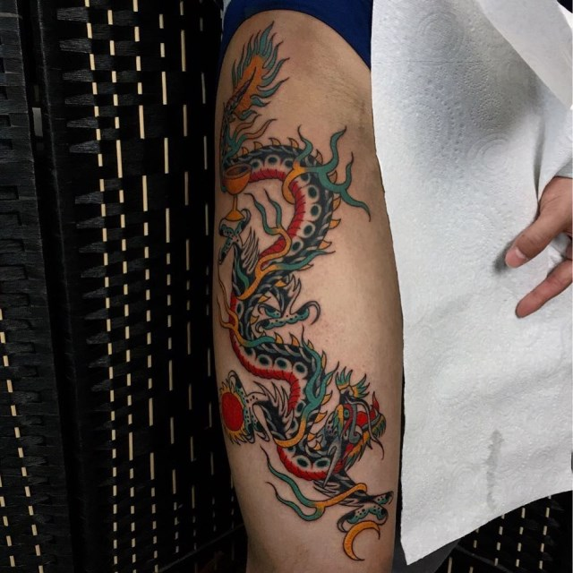 traditional dragon tattoo 13