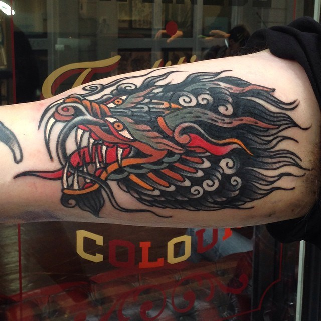 traditional dragon tattoo 24