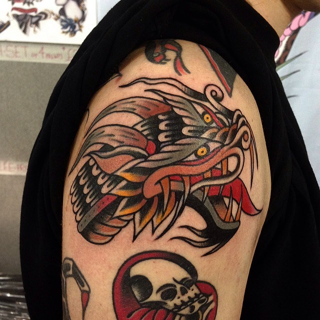 traditional dragon tattoo 27
