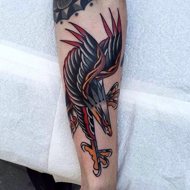 traditional eagle tattoo 006