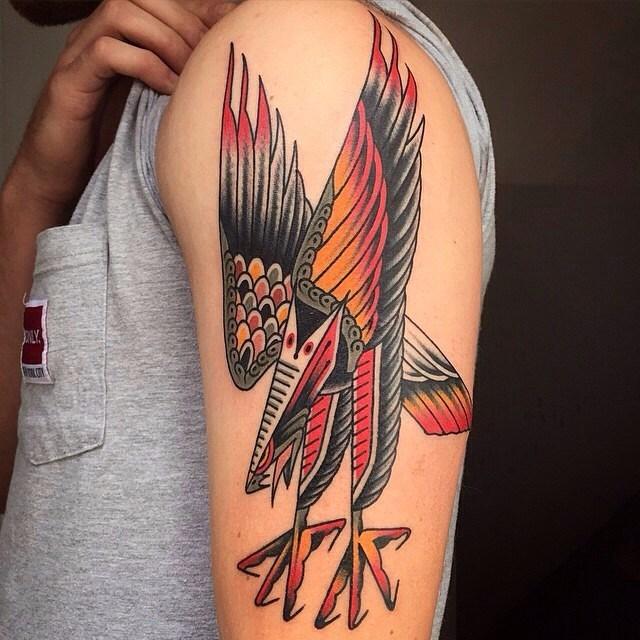 traditional eagle tattoo 009