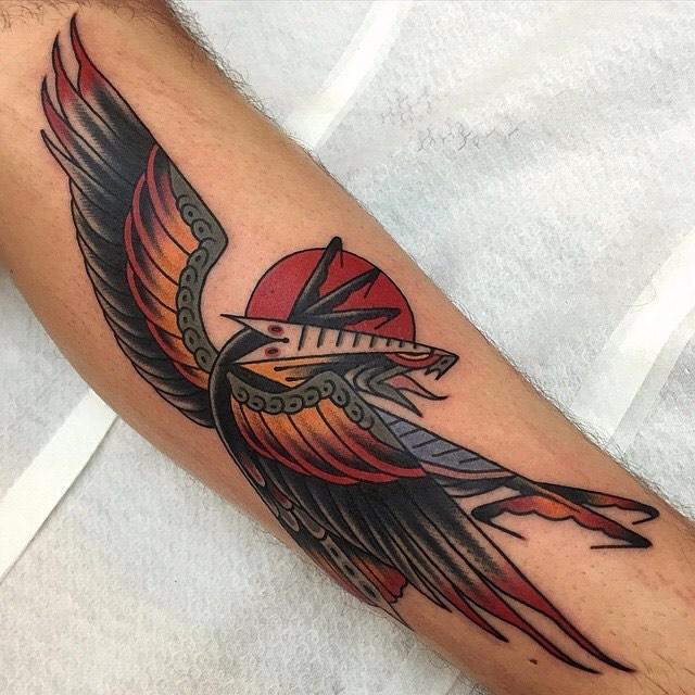 traditional eagle tattoo 012