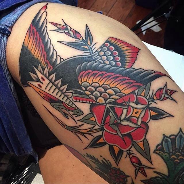 traditional eagle tattoo 016