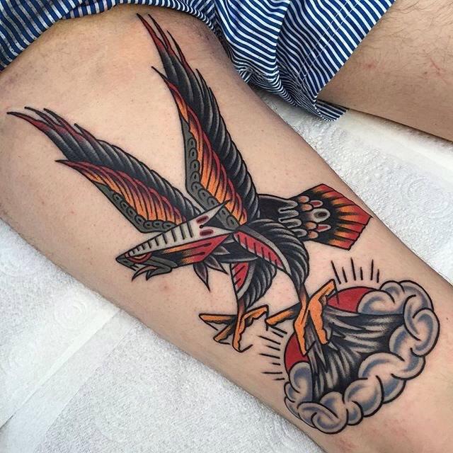 traditional eagle tattoo 018