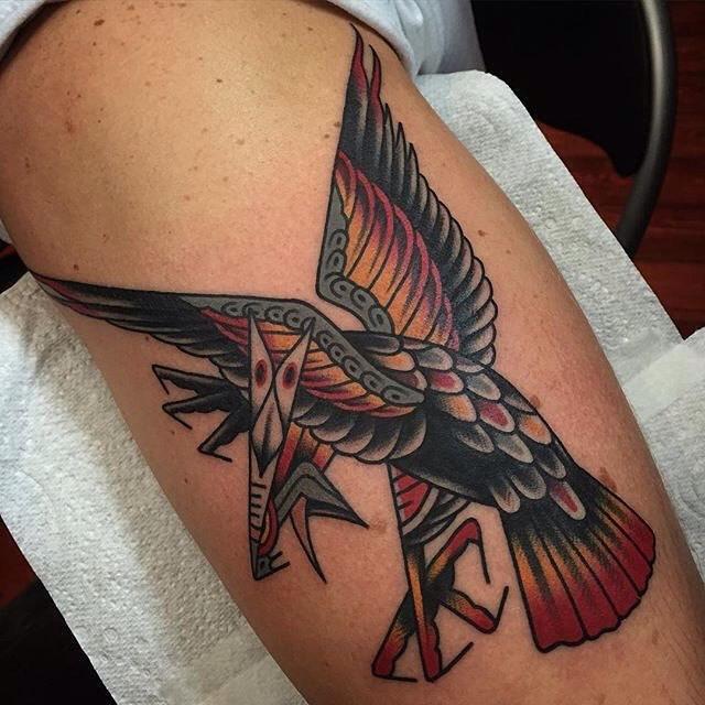 traditional eagle tattoo 019