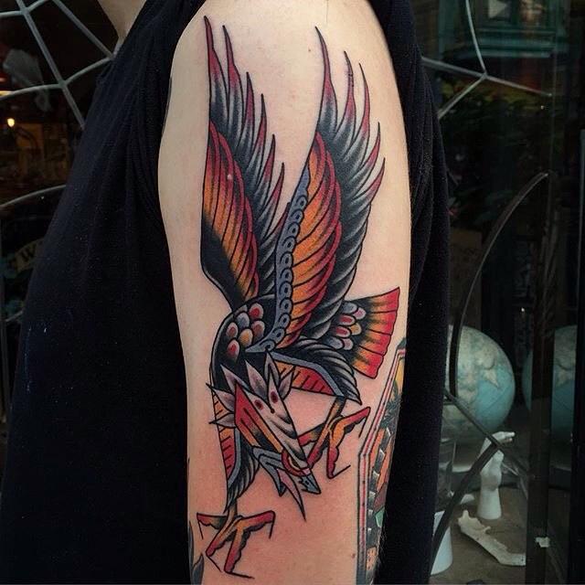 traditional eagle tattoo 022