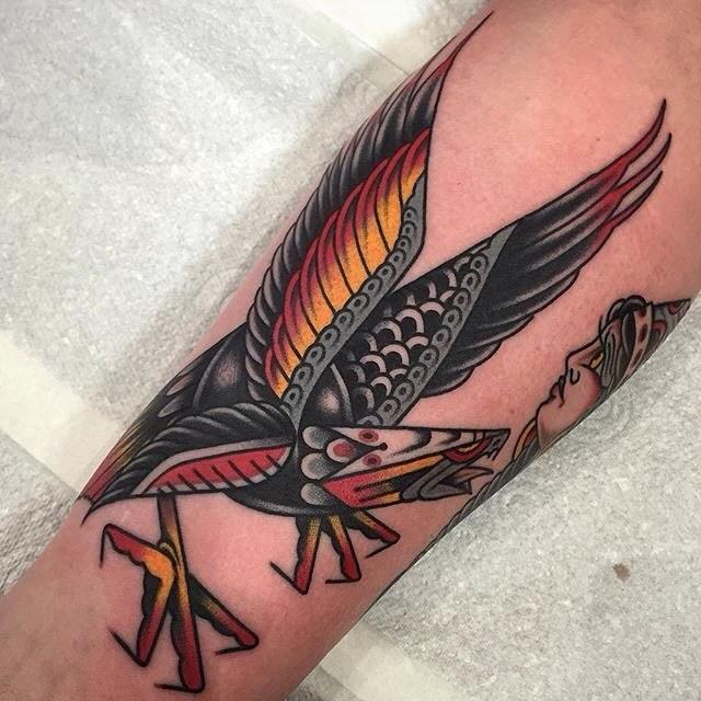 traditional eagle tattoo 024
