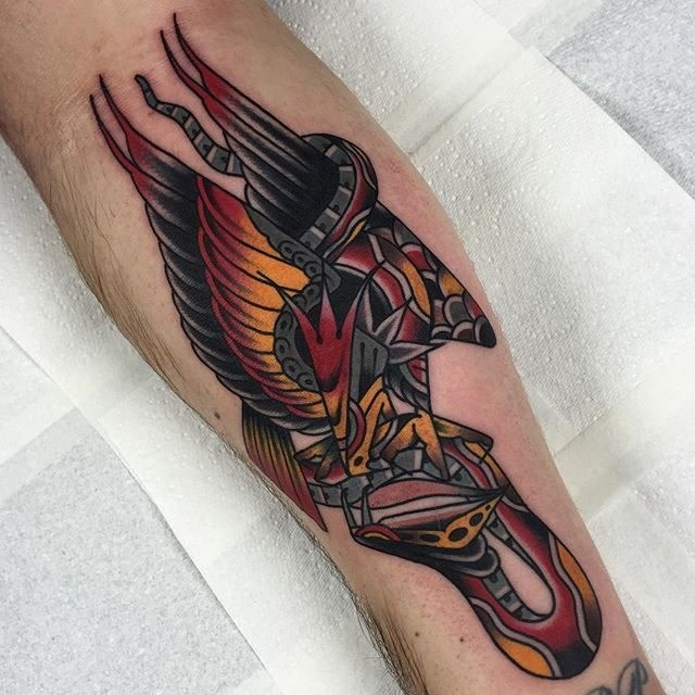 traditional eagle tattoo 029