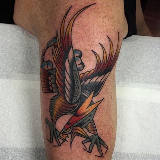 traditional eagle tattoo 030