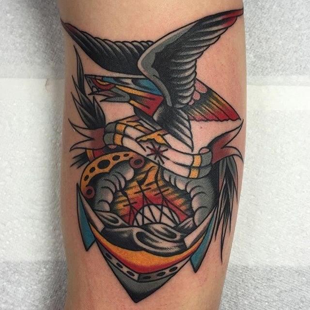 traditional eagle tattoo 033