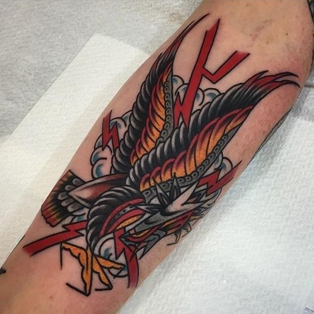 traditional eagle tattoo 035