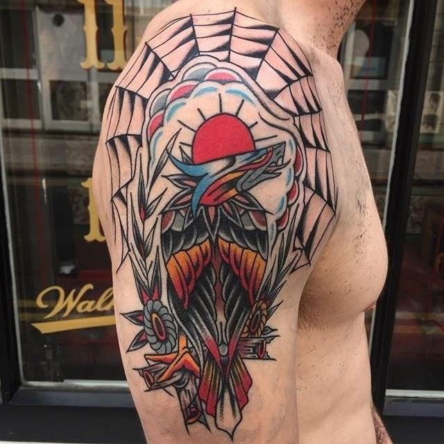 traditional eagle tattoo 037
